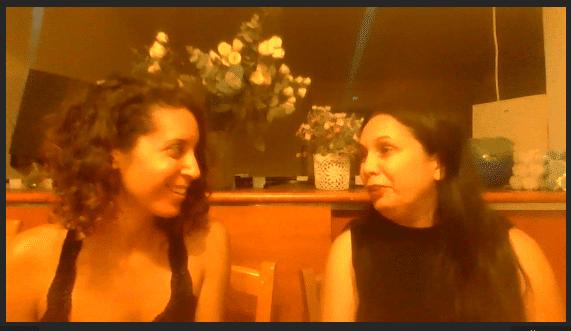 מיכל פולת אלונ האלמן בזמן הראיון על כלי שינה לאלונה את החיים