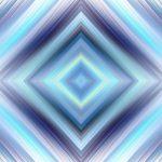 מנדלה בצורת יהלום כחול