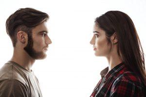 המרחק בין שני אנשים שמסתכלים אחד על השניה