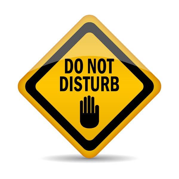 שלט נא לא להפריע: Do not disturb